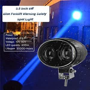 Blau Gabelstapler Sicherheit Led Licht 5 5 Zoll 8 Watt Led Warnleuchte Lager Scheinwerfer Fahren Arbeitsscheinwerfer Für Gabelstapler Sicherheitsanzeige 1 Stück Auto