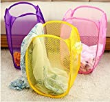 #5: Foldable Collapsible Laundry Basket Bag for Storage of Clothes, Toys Etc. (Color May Vary), Pack of 3