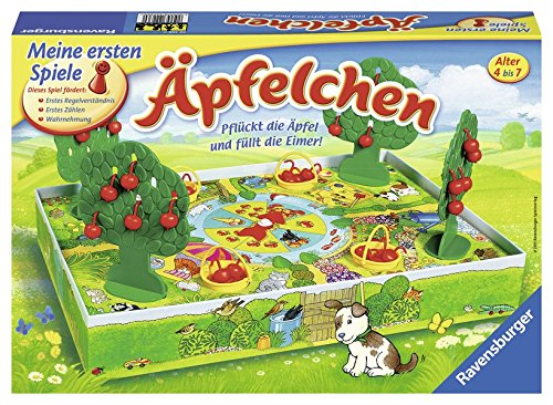Äpfelchen: Pflückt die Äpfel und füllt die Eimer!
