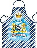 Bayern Bayrisch Alpen Löwen Krone Bayerisches Herz - Fun Motiv Schürze - mit Gratis-Urkunde