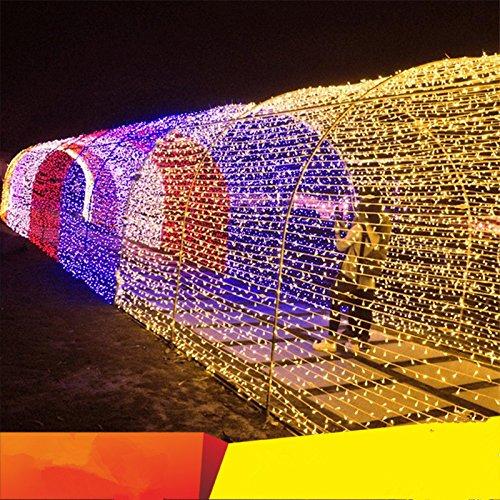 LED-Leuchten blinken Sterne wasserdichte outdoor Weihnachten neon Hintergrund Werbung dekorative Lampe post, 20 m Gelb -