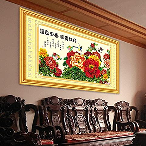 HJL®Mestiere pittura decorazione pittura decorazione diamante disegno DIY Croce cucire bellezze ricco peonia , 79cmx155cm