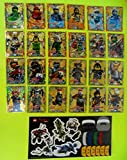 Ninjago Serie 3 Lego LE limitierten Karten LE 1 - LE 24 Trading Card Game Ninja Karten Goldkarten + 1 bmg2000 Deutschland Aufkleber + 1 Ninjago Sticker Aufkleber Gross