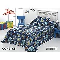 BOUTI INFANTIL cama de 90 cm AZUL modelo COHETES