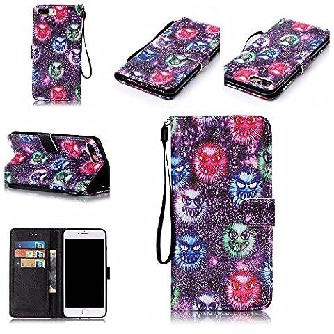 Coque iPhone 7 Plus, Meet de pour Apple iPhone 7 Plus (5,5 Zoll) Folio Case ,Wallet flip étui en cuir / Pouch / Case / Holster / Wallet / Case, Apple iPhone 7 Plus (5,5 Zoll) PU Housse / en cuir Wallet Style de couverture de cas Coque pour téléphone portable Étui Porte-monnaie en cuir étui de téléphone pour Apple iPhone 7 Plus (5,5 Zoll) - K