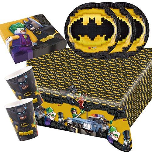 t Lego Batman - Teller Becher Servietten Tischdecke für 8 Kinder ()