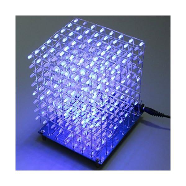 61WFhruGSyL. SS600  - Arduino DIY sansido 8x 8x 8LED Cube 3d Square Kit de electrónica de soldadura Sarter Junta de luz (LED azul)