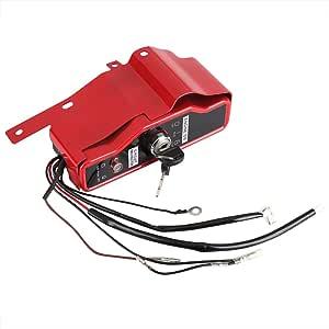 Zerodis Zündschlüssel Zündschloss Ignition Switch Mit 2 Schlüsseln Ersatzteil Für Motor Gx340 Gx390 11hp 13hp Küche Haushalt