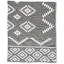 Bersuse 100% Algodón - Teotihuacan XL Toalla turca de manta - Certificado OEKO-TEX - Cama multiusos o colchón, cubierta de mesa o estera de picnic - Fouta ...