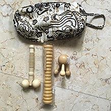 Indonesia celulitis y linfático Self Kit, bolsa de Batik, rodillo de masaje, masajeador de cuero cabelludo/Nobble, cuerpo masajeador Stick