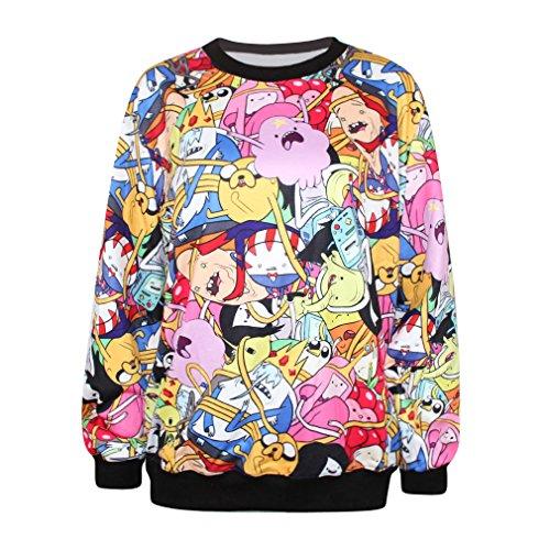 Ecollection 3D Adventure Time Digital Print Sweatshirts Jake and Finn Fashion Tops Hoodies (AD12) hier kaufen