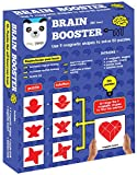 Brain Booster Set 2 (56 puzzles designed to boost intelligence)(magnetic shapes, magnetic board, puzzle book, solution book included)
