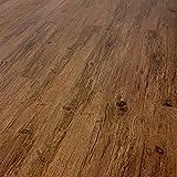 TRECOR Vinyl-/LVT Klick Vinyl-Designboden Massivdiele 5 mm stark mit 0,5 mm Nutzschicht - WASSERFEST - Sie kaufen 1 Musterstück mit ca. 35 cm Länge - (Vinylboden Musterstück, Lärche Antik)