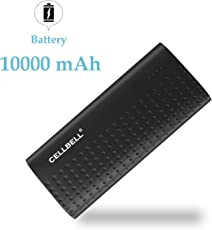 CELLBELL® 10000mAH Li-ion Power Bank(Black)