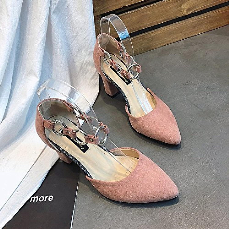 GAOLIM Frühling Damen Schuhe Damen Laufschuhe high-heeled Schuhe mit Hohl Schlitz Verschlüsse mit Spitze flach-weiblichö