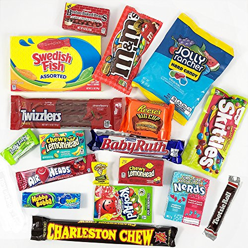 American Candy Box Hamper American Sweets And Chocolate Bar Gift Box Selection Assortment Includes Reeses Skittles Nerds Jolly Rancher Value