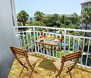 ... Auspicious Home Juniper Folding Balcony Table U0026 Two Chair Set