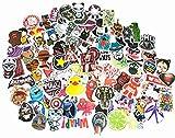 The Mezele Autocollant Lot [100-pcs] Graffiti Autocollant Stickers vinyles pour ordinateur portable, enfants, voitures, moto, vélo, Skateboard bagages, Bumper Stickers hippie autocollants Bomb étanche