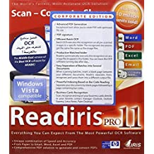 I.R.I.S. Readiris Pro 11.0 Corporate Edition Middle East (Include IRIS Desktop Search) - Sistemas OCR (120 MB, 128 MB, Intel Pentium, Plurilingüe)