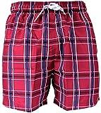 SUNMAN by SUNFLAIR Badeshorts Strandshorts Shorts rot navy kariert ÜBERGRÖSSEN, Grösse:XXXL - 9 - 58;Farbe:mehrfarbig