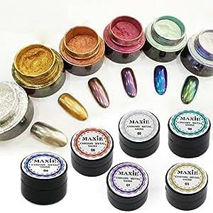 Polvere specchio set 6 colori specchio magico chiodo - Polvere a specchio ...