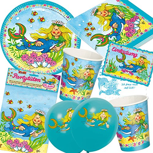 94piece-set-nixen-mermaid-sina-starfish-for-childrens-birthday-parties-with-8children-plates-cups-na