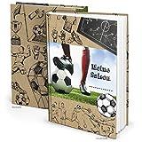 WM Fußball Geschenk-Buch Jungen MEINE SAISON DIN A5 Fußball-Buch Aufschreiben der Fussball-Ergebnisse Album als Geburtstagsgeschenk Geschenkidee Fußballspieler Weltmeisterschaft 2018