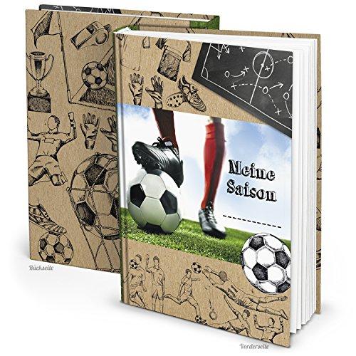 Fußball Geschenk-Buch für Jungen - Meine Saison - DIN A5 mit 136 Seiten zum Einschreiben der Fussball-Ergebnisse als Geburtstagsgeschenk, Weihnachtsgeschenk, Geschenkidee Fußballspieler