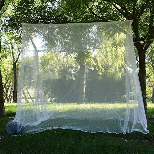 mooderff Moskitonetz,Fliegennetz Mückennetz Feinmaschiges Moskitonetz Großes Moskitonetz Quadratische Moskitonetze Für Doppelbett Und Einzel Bett Fliegennetz Mückennetz - 200 X 200 X 180cm, Weiß