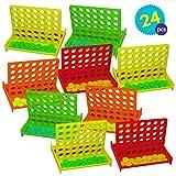 Gioco da tavolo Mini Forza 4 - 24 pezzi per confezione - 4 colori diversi - Regalini ideale per borse da festa, ricompense di classe, premi per giochi, giocattoli fine bambini, compleanno bomboniere