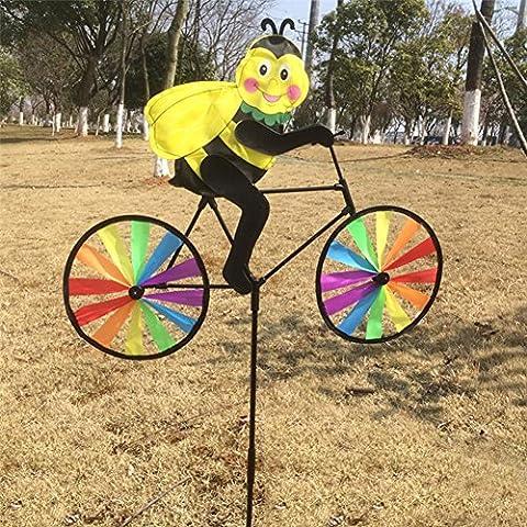 Dairyshop 3d Animal sur vélo Moulin à vent Musique pelouse