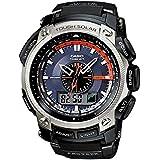 Casio Sport Unisex-Armbanduhr Pro-Trek-Funk-Solar-Kollektion Analog - Digital Quarz PRW-5000-1ER