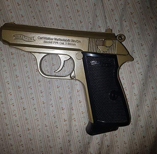Unbekannt Walter Feuerzeug Pistole PPK Gold Farbe NEU -