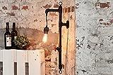 DuNord Design Wandlampe PERM Rohre schwarz Industrie Look Industrielampe Fabrikdesign retro Wandbeleuchtung
