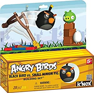 angry birds schwarzer vogel mit schleuder und schwein ei. Black Bedroom Furniture Sets. Home Design Ideas