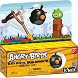 K'Nex Angry Birds Black Bird vs. Small Minion Pig [28 PCS]
