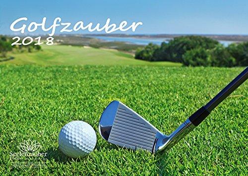 Premium Kalender 2018 · DIN A3 · Golfzauber · Golf · Sport · Abschlag · Handicap · Geschenk-Set mit 1 Grußkarte und 1 Weihnachtskarte · Edition Seelenzauber