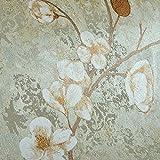 SDKKY Vintage American Country Garden flores papel tapiz de tela pegado dormitorio salón sofá TV pared de fondo papel tapiz , 5 papel pintado