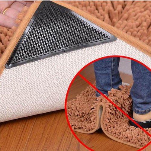 Yoogeer 4Stück Teppich Greifer, Teppich Ecke Greifer Wiederverwendbar Stopper Anti Rutsch Pads für Teppiche/Matte Home Zubehör (Home-teppich-pads)