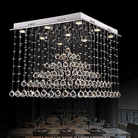 FYN® Simple square Fashion restaurant chandeliers Modern bedroom crystal lamp