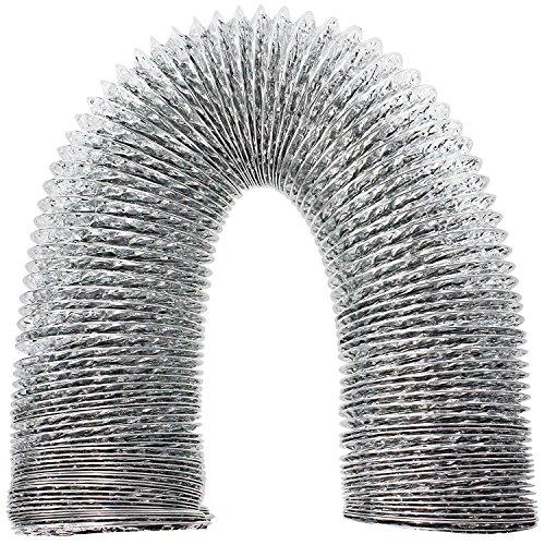 spares2go 3m Aluminium Flexible Vent Schlauch Auspuff für, Trockner (10,2cm/100mm Durchmesser) -