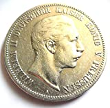 orig. 5 Mark Silbermünze 1895 A ss+/vz - Münze Preußen Kaiser Wilhelm II. Jäger Nr.104