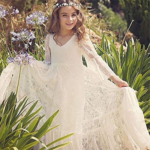Mädchen Prinzessin Kleid Blumenmädchen Spitzenkleid weiblich Hochzeit Prinzessin Kleid Mädchen Kinder Brautkleider Hosted Kostüme für Hochzeit Brautjungfer Prom Cocktail ( Größe : 12-13T - Tanz Kostüm Mädchen Im Teenageralter