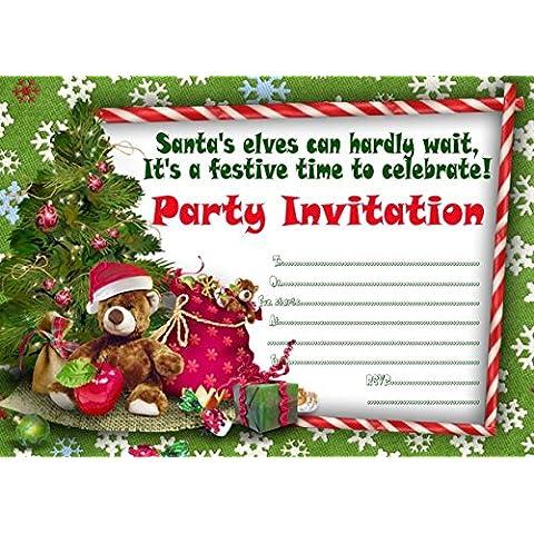 10x Inviti per feste di (Bianco Della Carta Dell'invito)