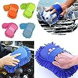 Miaoo microfibra Chenille Car Wash guantes manopla de limpieza Esponja Color al azar