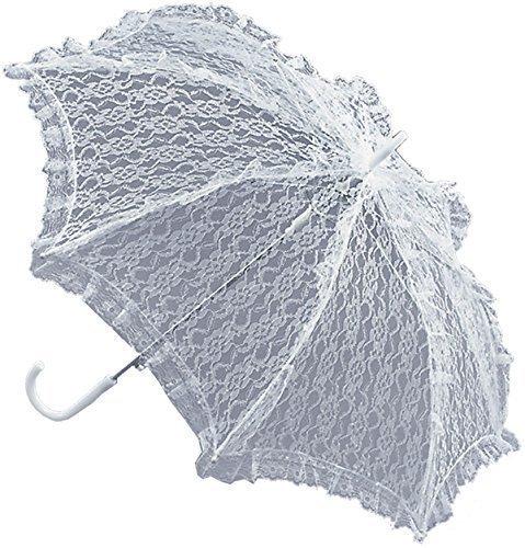 Stil Damen Kostüm Party Zubehör Parasol mit weißen Spitze (Viktorianischen Stil Kostüme)