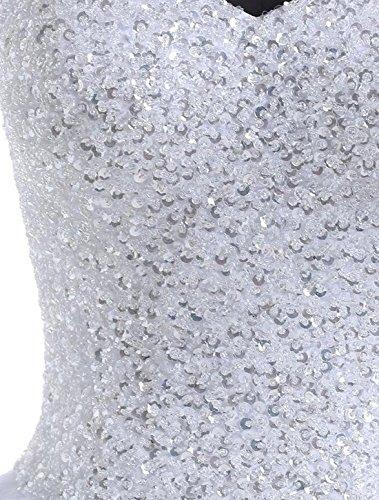 Find Dress Longue Robe de Mariage Princesse Paillette Bustier Sexy Cocktail Soirée Col en Coeur Robe de Mariée Femme Grande Taille en Tulle avec Sequins Blanc