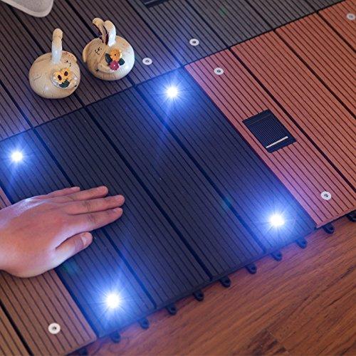 Global Brands Online Holzbodenbeläge aus Kunststoff mit Fliesen decking Sonnenlicht Garten Balkon außen graviert