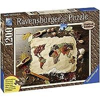 Ravensburger Italy 19915 - Puzzle in Cartone Mappamondo delle Spezie, 1200 Pezzi Effetto Legno