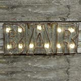 Beleuchtete Metall- und LED-Lichthalter Bar